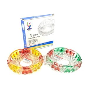 Qianli Natural Type Multi colour Glass Ash Tray – G1008
