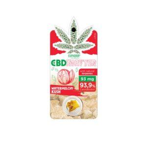 Euphoria 93mg CBD Shatter Watermelon Kush 0.1g