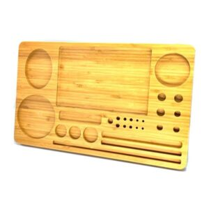 Extra Large Wooden Rolling Tray with Compartments – TRY-B428x260