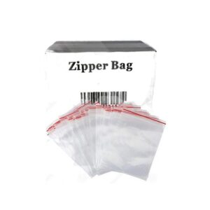 5 x Zipper Branded 100mm x 100mm Clear Bags