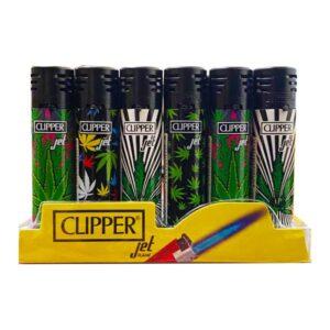 24 Clipper Refillable Jet Printed Leaf Lighters  – CKJ11R