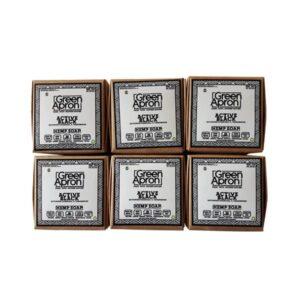 Green Apron 100mg CBD Charcoal Soap – 6 pack