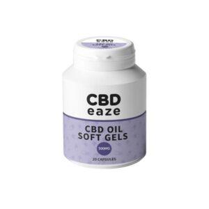 CBDeaze 500mg CBD Soft Gel Capsules – 20 Capsules