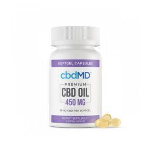 cbdMD 450mg CBD Softgels – 30 Softgels