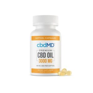 cbdMD 3000mg CBD Softgels – 60 Softgels