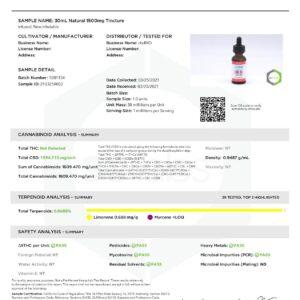 cbdMD 1500mg CBD Tincture Oil 30ml – Natural