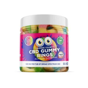 Orange County 1200mg CBD Gummy Rings – Small Pack