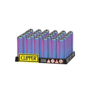 40 Clipper Micro Metal Metallic Mixed Icy Lighters