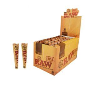 6 x 32 RAW Classic Natural Hemp 1 Pre-Rolled Cones