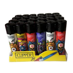 24 Clipper Electronic Refillable Printed Strange Flowers Jet Flame Lighters – CKJ3B032UKH