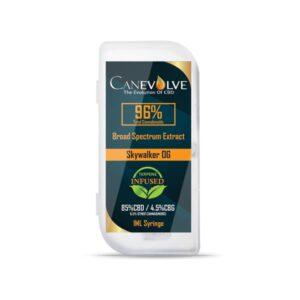 Canevolve 96% CBD Broad Specrum Cannabis Extract Syringe 1ml