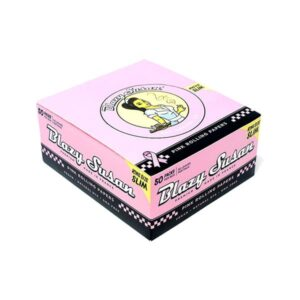 50 Blazy Susan King Size Slim Pink Rolling Papers