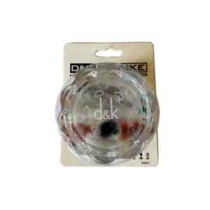 D&K 2 Part 60mm Clear Plastic Herb Grinder DK4011
