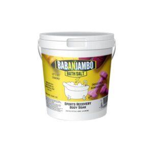 Babanjambo 100mg CBD Eucalyptus & Jasmine Sports Recovery Bath Salt – 900g
