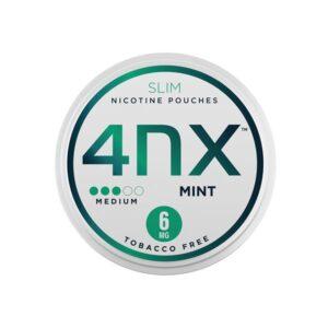 4NX 6mg Mint Slim Nicotine Pouches 5 x 20 Pouches