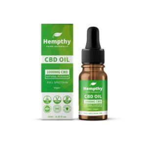 Hempthy 1000mg CBD Oil Full Spectrum Natural –  10ml