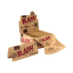 15 Raw Classic Artesano King Size Slim Rolling Papers + Tray & Tips